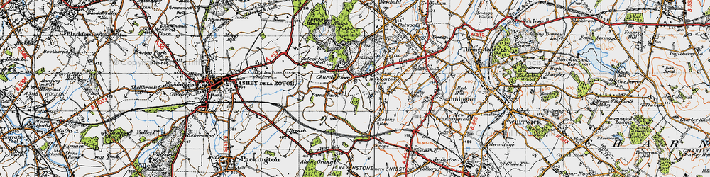 Old map of Alton Hill in 1946