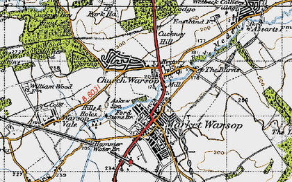 Old map of Askew Spa in 1947