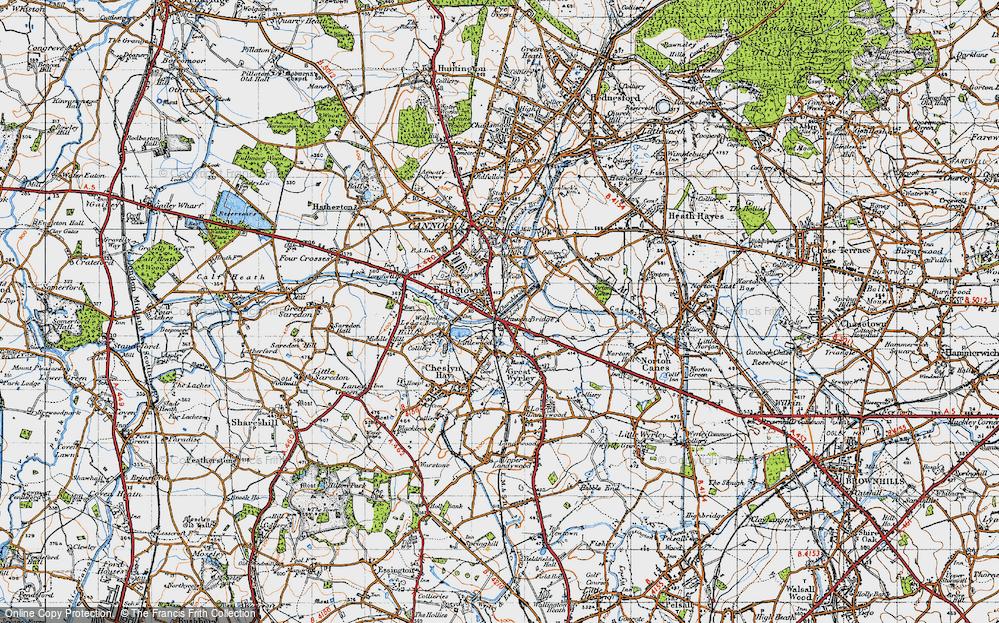 Old Map of Churchbridge, 1946 in 1946