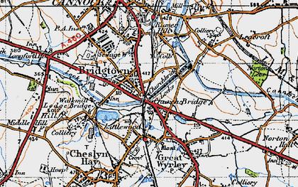 Old map of Churchbridge in 1946