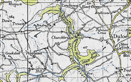 Old map of Churchbridge in 1946
