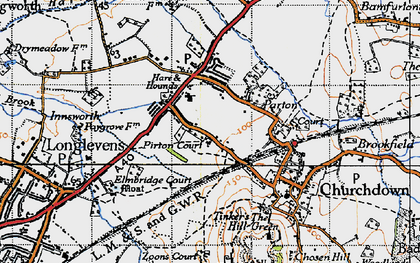 Old map of Churchdown in 1947
