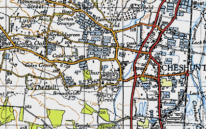 Old map of Churchgate in 1946
