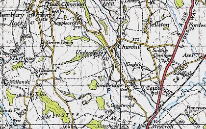 Old map of Churchill in 1945