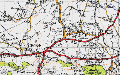 Old map of Churchill in 1946