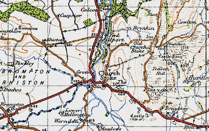 Old map of Churchstoke in 1947