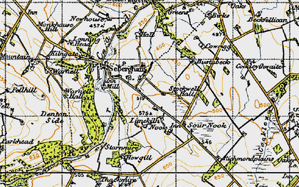 Old map of Lime Kiln Nook in 1947
