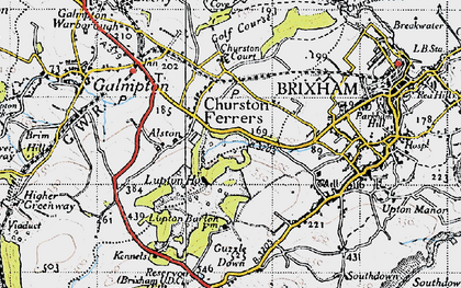 Old map of Churston Ferrers in 1946