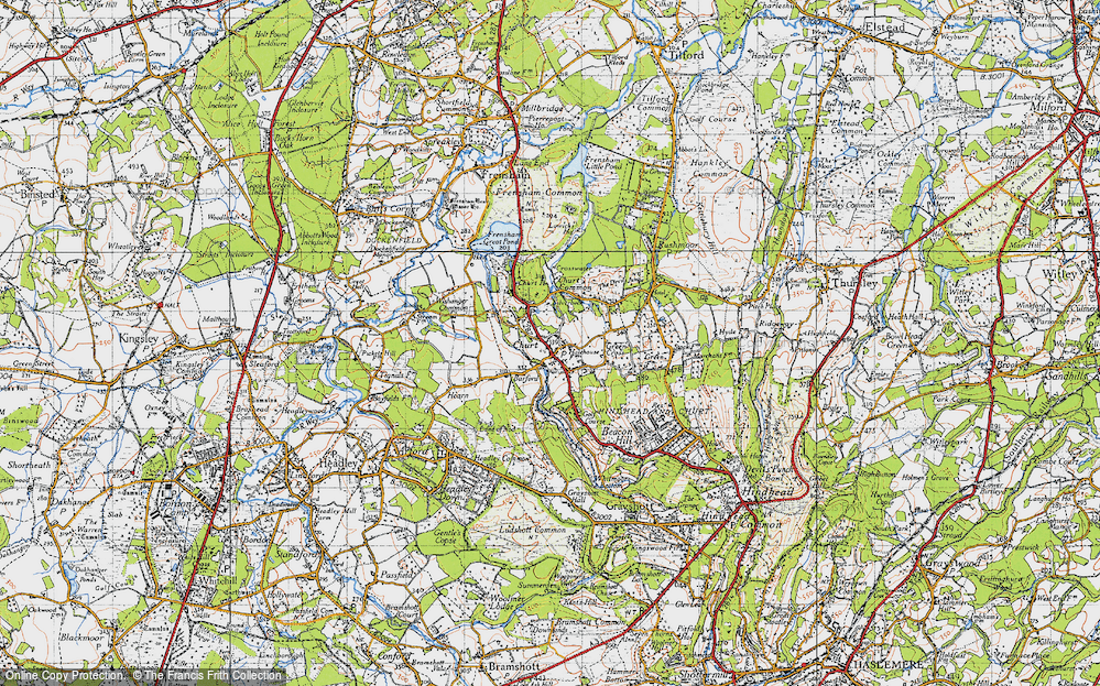 Old Map of Churt, 1940 in 1940