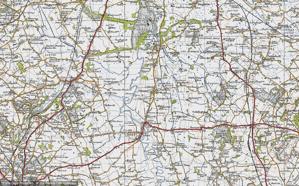Old Map of Historic Map covering Almere in 1947