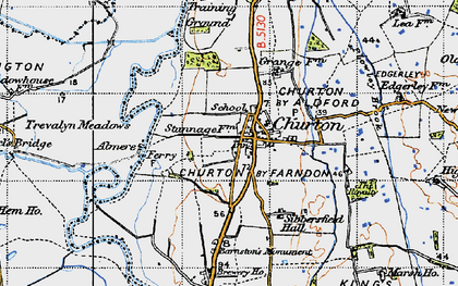 Old map of Almere in 1947
