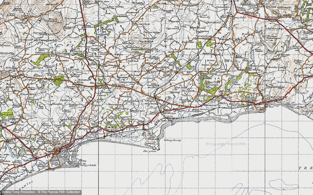 Old Map of Chwilog, 1947 in 1947