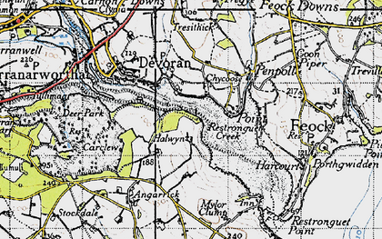 Old map of Chycoose in 1946