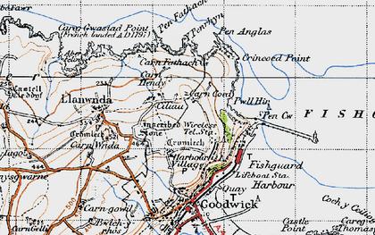 Old map of Y Penrhyn in 1947