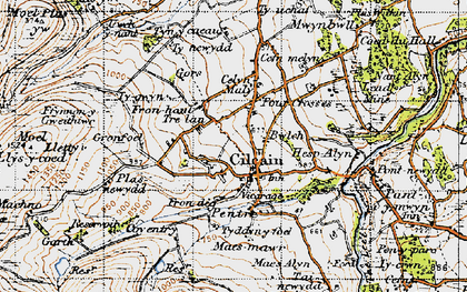 Old map of Cilcain in 1947