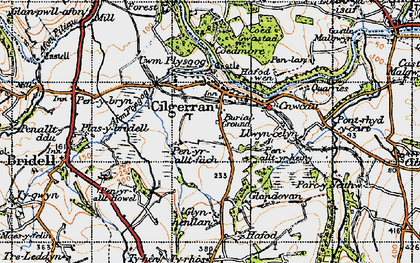 Old map of Allt-y-rheiny in 1947