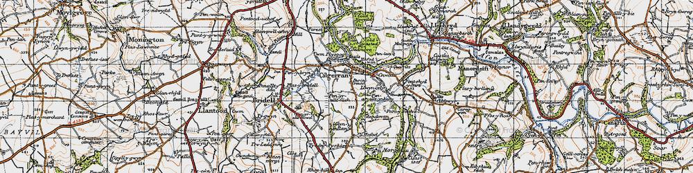 Old map of Allt-y-rheiny in 1947