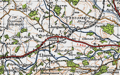 Old map of Cilmery in 1947