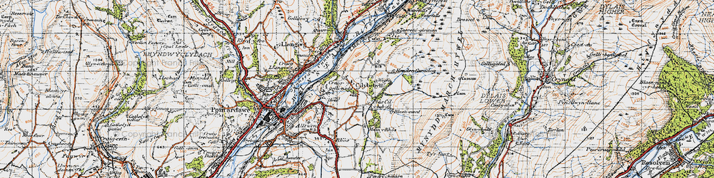 Old map of Wigfa in 1947