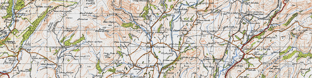 Old map of Abergwenlais in 1947