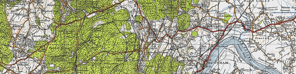 Old map of Cinderford in 1946