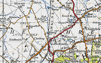 Old map of Clanking in 1946