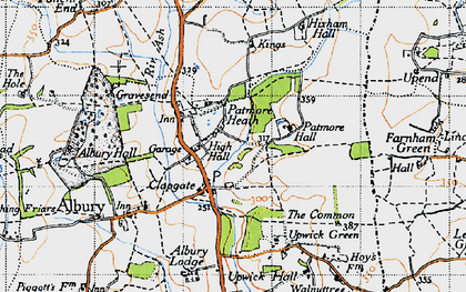 Old map of Clapgate in 1946