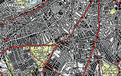 Old map of Clapham in 1945
