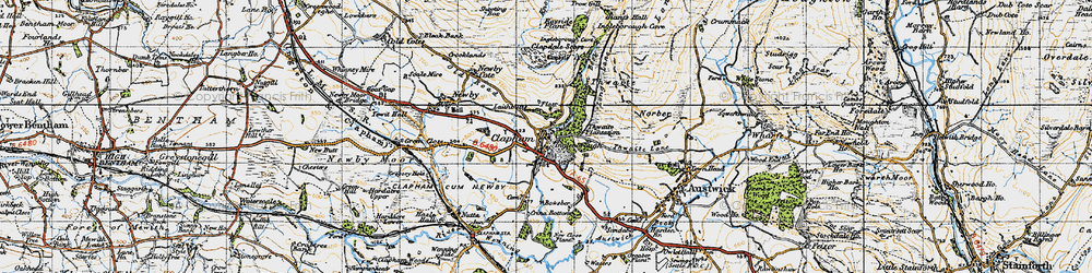 Old map of Thwaite in 1947