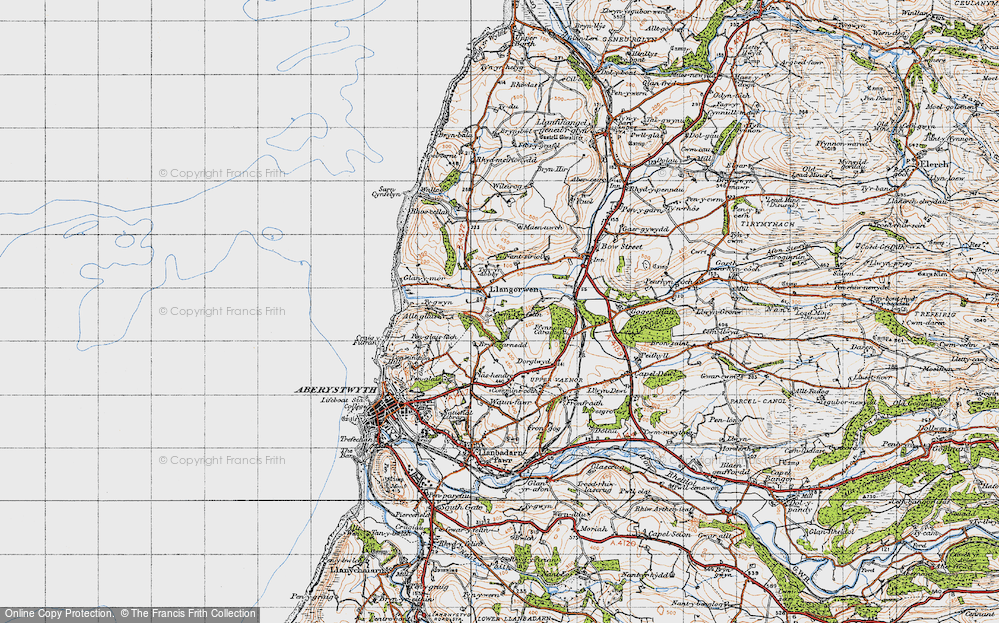 Old Map of Historic Map covering Allt-glais in 1947