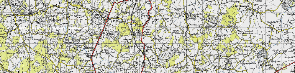 Old map of Tiphams in 1940