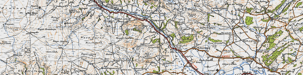 Old map of Allt y Genlli in 1947