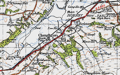 Old map of Whit Moor in 1947
