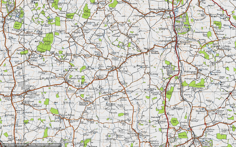 Old Map of Clavering, 1946 in 1946