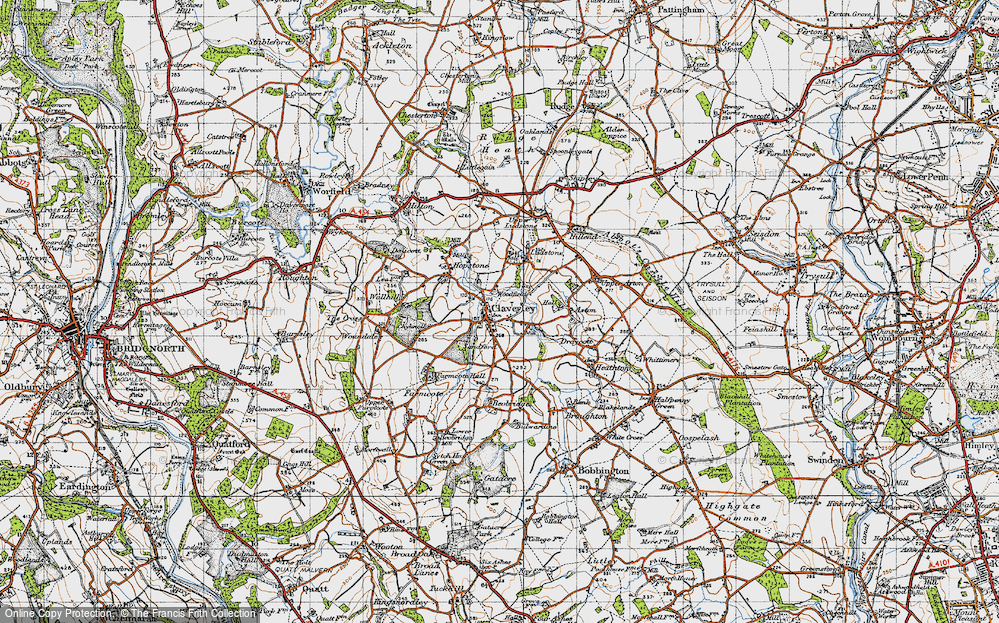Old Map of Claverley, 1946 in 1946