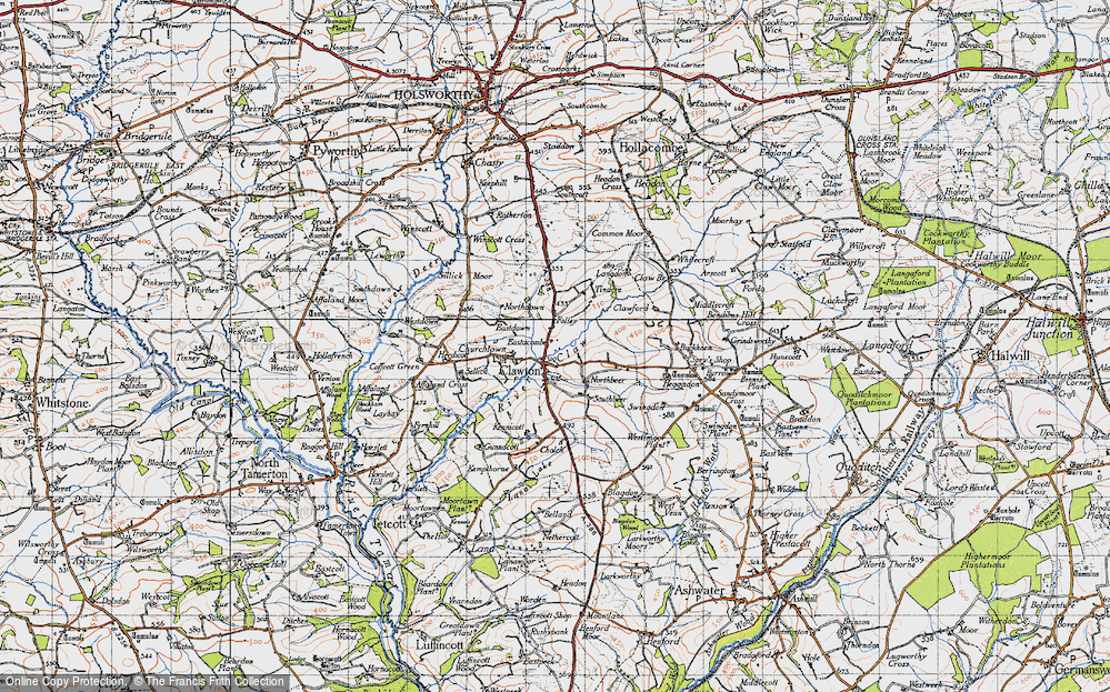 Old Map of Historic Map covering Tinacre in 1946
