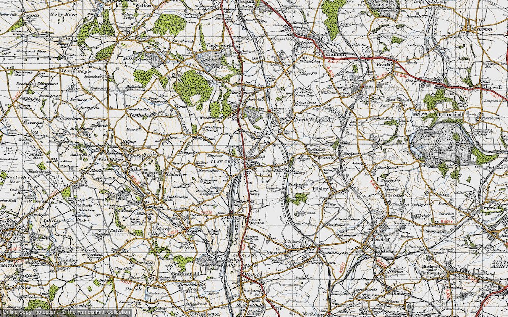 Old Map of Clay Cross, 1947 in 1947
