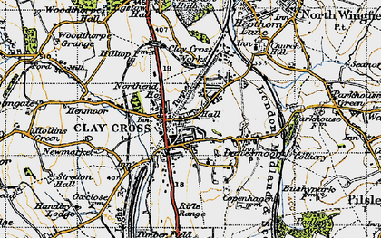 Old map of Clay Cross in 1947