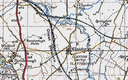 Old map of Wormleighton Resr in 1946