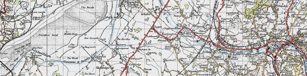 Old map of Wicksters Brook in 1946