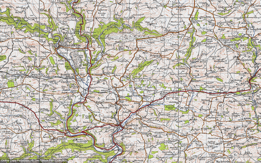 Old Map of Historic Map covering Timewell in 1946