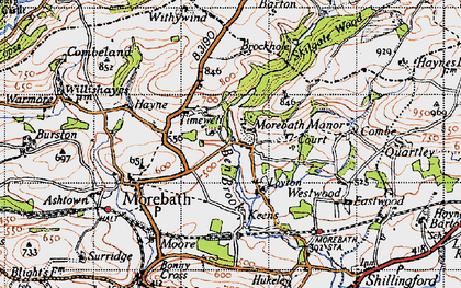 Old map of Westwoods in 1946
