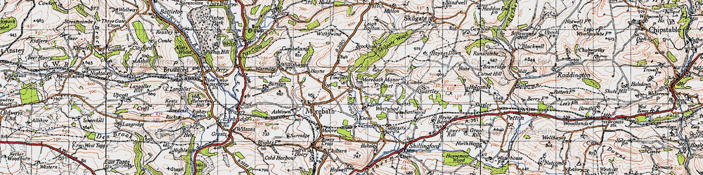 Old map of Timewell in 1946