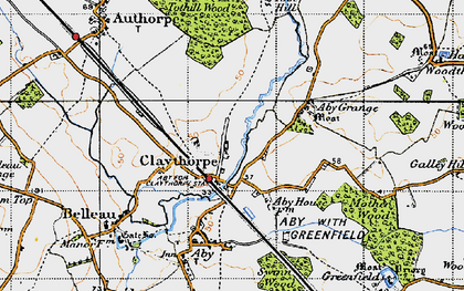 Old map of Aby Grange in 1946