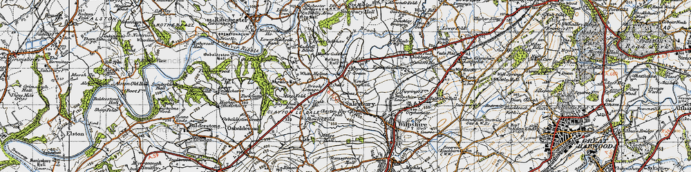 Old map of White Holme in 1947