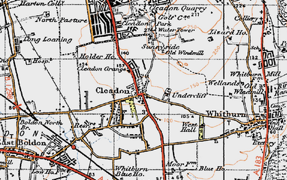 Old map of Cleadon in 1947