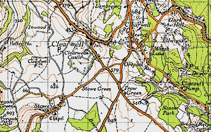 Old map of Clearwell in 1946