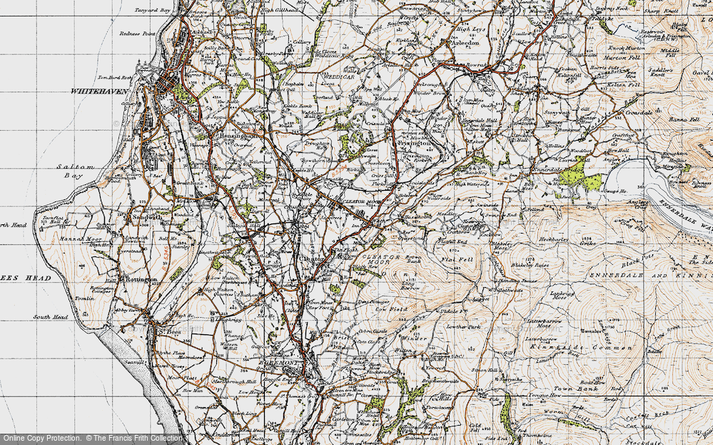 Old Map of Cleator Moor, 1947 in 1947