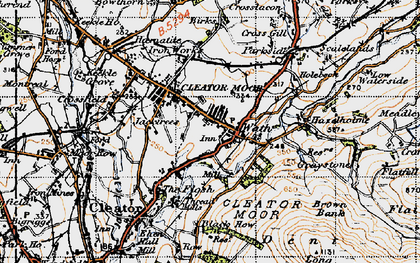 Old map of Cleator Moor in 1947