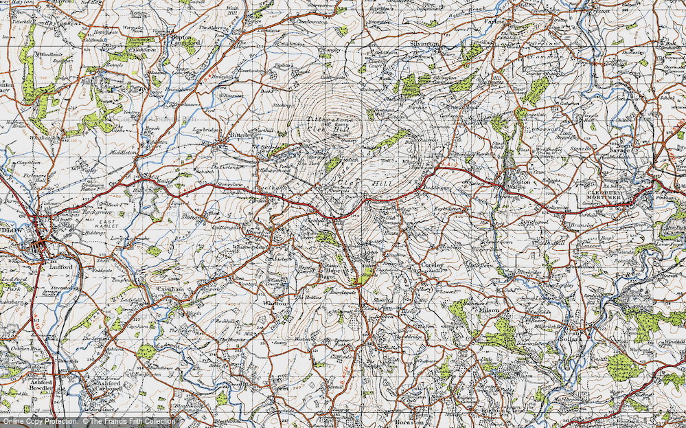 Old Map of Historic Map covering Titrail in 1947
